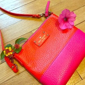 Kate Spade Leather Pink/Orange Crossbody 🎉🎊